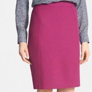 Halogen Berry Magenta Purple Pencil Seamed Skirt